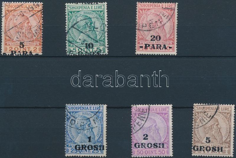 Definitive overprinted set, Forgalmi felülnyomott sor