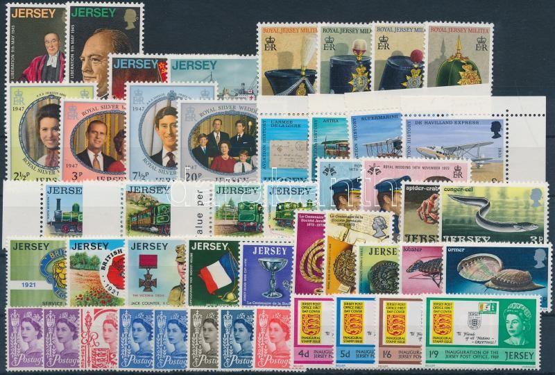 1958-1973 46 stamps with sets, margin and corner values 1958-1973 46 db bélyeg, közte teljes sorok, ívszéli és ívsarki értékek