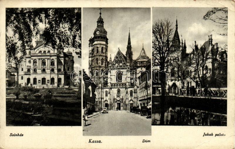Kosice, theatre, dome, palace, Kassa, színház, Dóm, Jakab palota