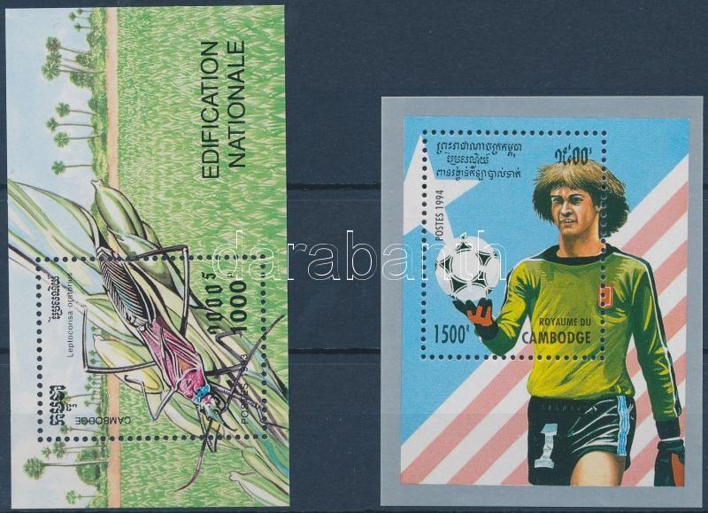 1993-1994 Pest insects, Football World Cup 2 diff blocks, 1993-1994 Kártevő rovarok, labdarúgó VB 2 klf blokk