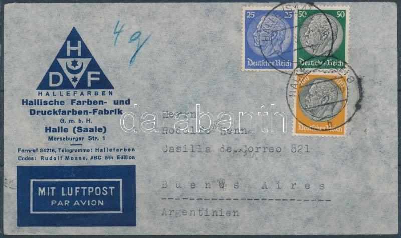 Airmail cover to Argentina, Légi levél Argentínába