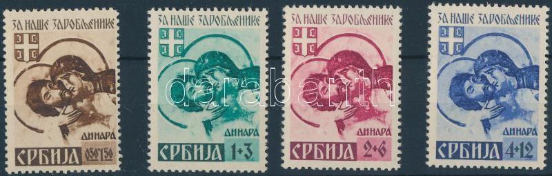 Serbien (Mi 54 II hinged), Szerbia (Mi 54 II falcos)