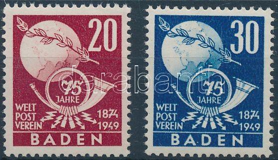 Baden UPU set, Baden 75 éves az UPU sor