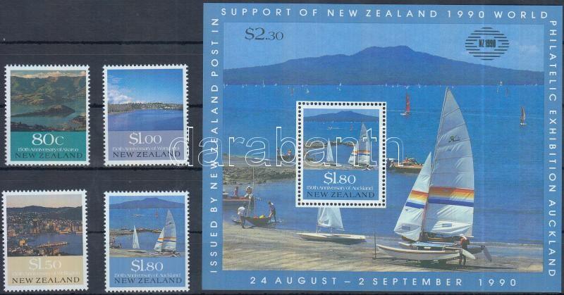 International Stamp Exhibition: Cities set + block, Nemzetközi bélyegkiállítás: Városok sor + blokk