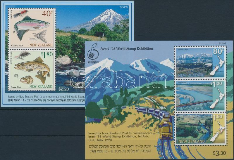 International Stamp Exhibition, Israel block set, Nemzetközi bélyegkiállítás, Izrael blokk sor