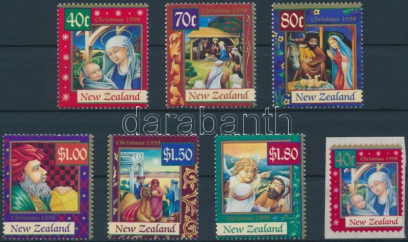 Christmas set + self-adhesive stamp, Karácsony sor + öntapadós bélyeg