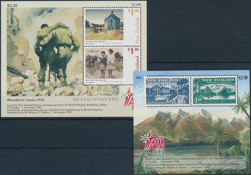 International Stamp Exhibition block set, Nemzetközi bélyegkiállítás blokk sor