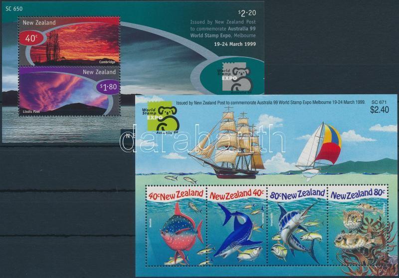 International Stamp Exhibition, Australia block set, Nemzetközi bélyegkiállítás, Ausztrália blokk sor