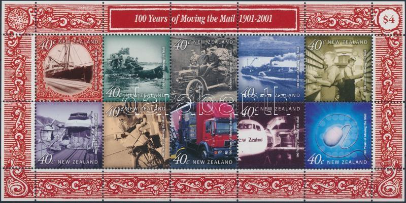 Postal vehicles in the 20th century minisheet, Postai járművek a 20. században kisív