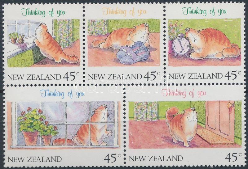 Greeting Stamp block of 5, Üdvözlőbélyeg ötöstömb