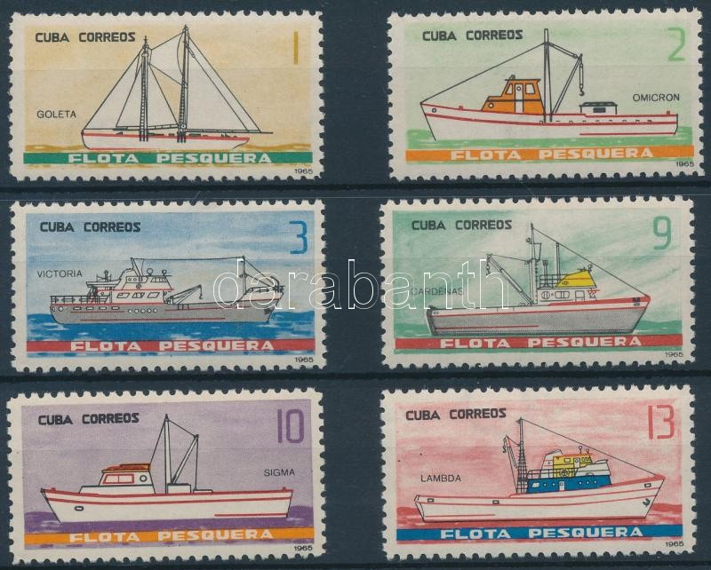 Fishing boats set, Halászhajók sor