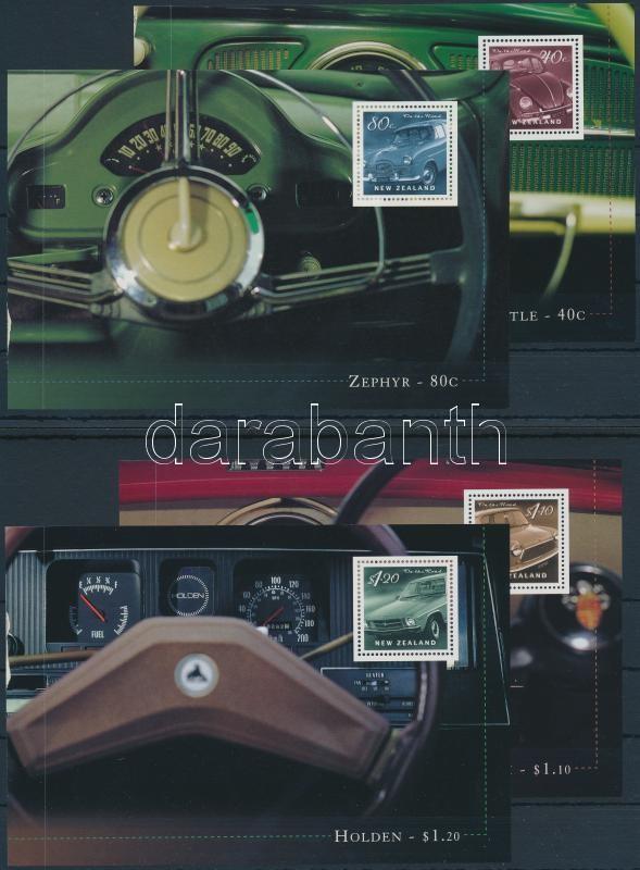 Automobile 7 stampbooklet sheet, Automobil 7 db bélyegfüzetlap 4 db stecklapon