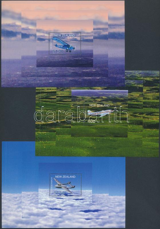 Aircrafts 7 sheets from blocks, Repülőgépek 7 db blokkból kitépett lap