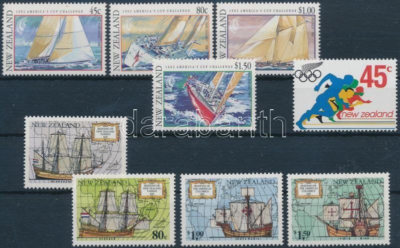 2 sets + 1 stamp, 2 db sor és 1 önálló érték