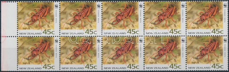 WWF stamp booklet sheet, WWF bélyegfüzetlap