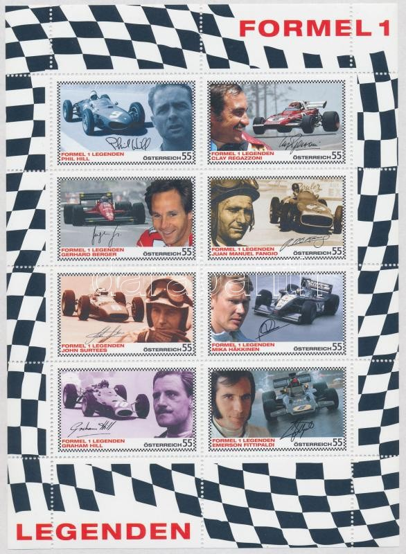 Formula 1 legends minisheet, Forma-1 legendák kisív