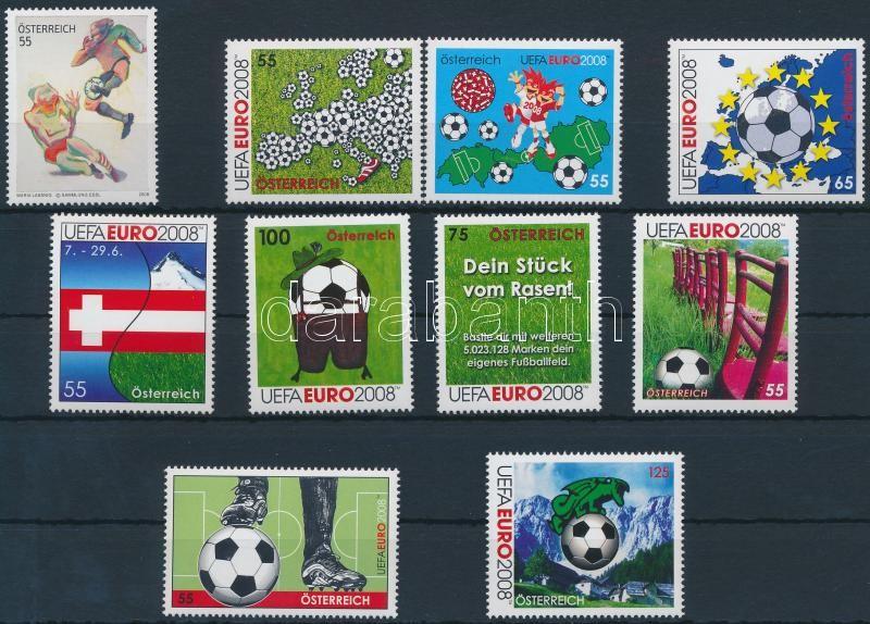 Football Championships 10 diff stamps, Labdarúgó EB. 10 klf bélyeg