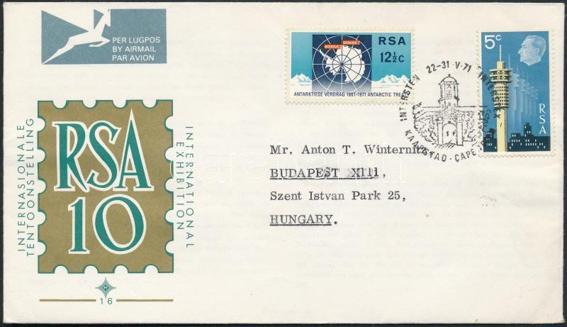 Stamp Exhibition and Antarctica FDC, Bélyegkiállítás és Antarktisz értékek FDC-n