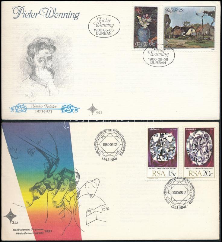1980-1981 5 FDC, 1980-1981 5 db FDC