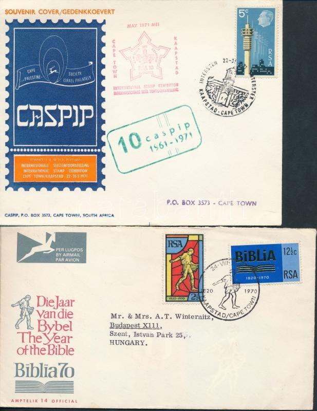 1970-1975 3 FDC, 1970-1975 3 db FDC