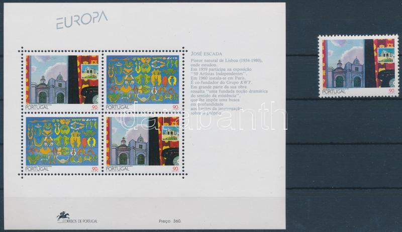 Europa CEPT stamp + block, Europa CEPT bélyeg + blokk