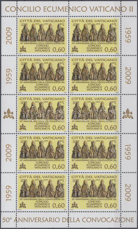 2nd Vatican Council minisheet, A második Vatikáni zsinat 50. évfordulója kisív