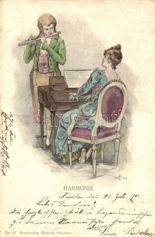 Harmonie / harmony, Kunstverlag Minerva No. 17, Összhang, Kunstverlag Minerva No. 17