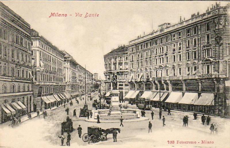 Milano, Milan; Via Dante / street