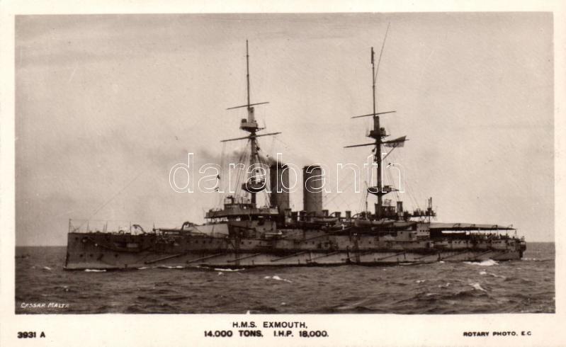HMS Exmouth, HMS Exmouth csatahajó