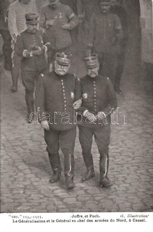 Joseph Joffre and Ferdinand Foch in Cassel, Joseph Joffre és Ferdinand Foch Casselben
