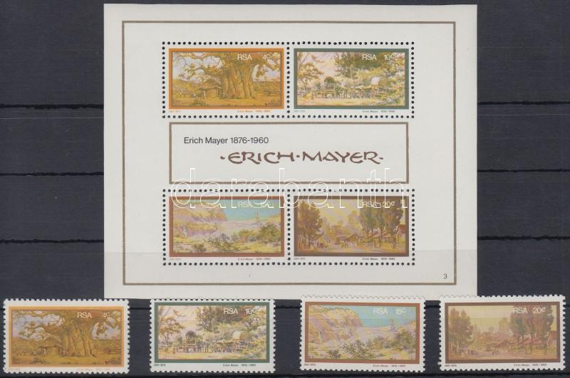 Erich Mayer paintings set + block, Ericjh Mayer festmények sor + blokk