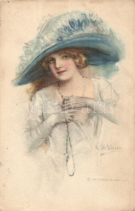 Lady with hat s: Ditzler, Kalapos hölgy s: Ditzler
