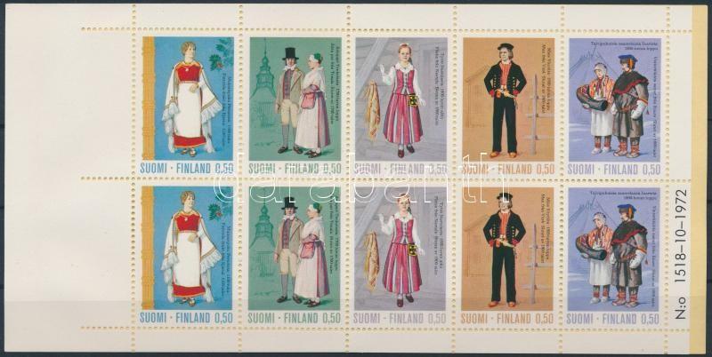 Costumes stamp-booklet, Népviselet bélyegfüzet
