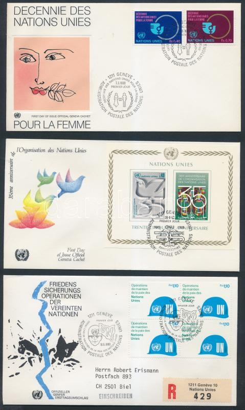 7 diff. FDCs, 7 klf FDC