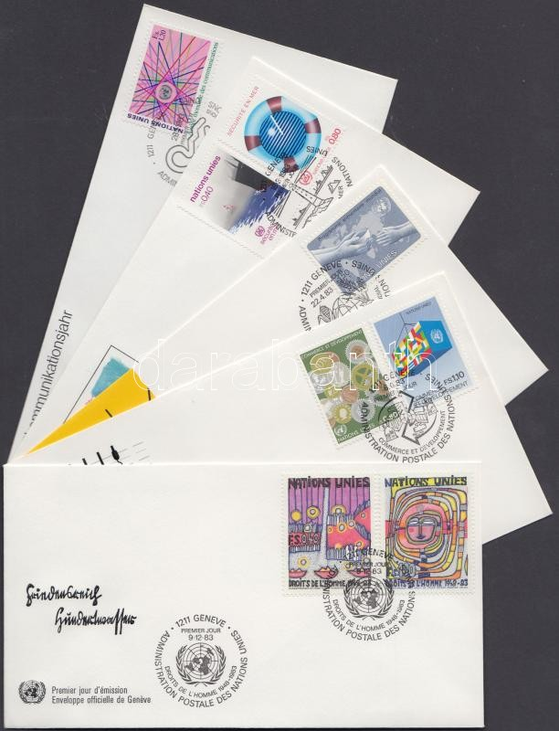 5 diff. FDCs, 5 klf FDC