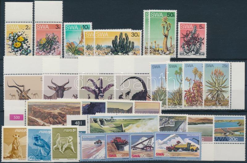 1973-1981 31 stamps, 1973-1981 31 db bélyeg, közte teljes sorok és ívszéli értékek