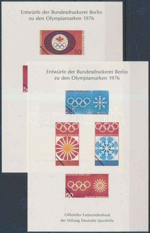 2 Olympics memorial sheet, 2 klf Olimpia emléklap