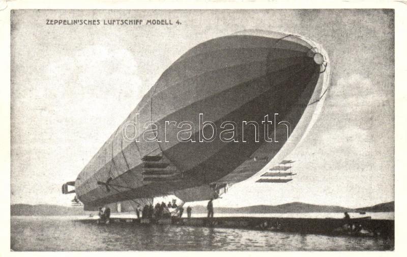 Zeppelinisches Luftschiff Modell 4 / Zeppelin airship, Zeppelin-léghajó