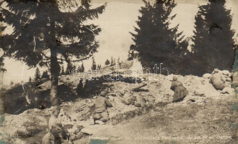 WWI K.u.K. military, Hofmann cs. és kir. altábornagy hadtestje, állásaink az Ostryn; Hadifénykép Kiállítás
