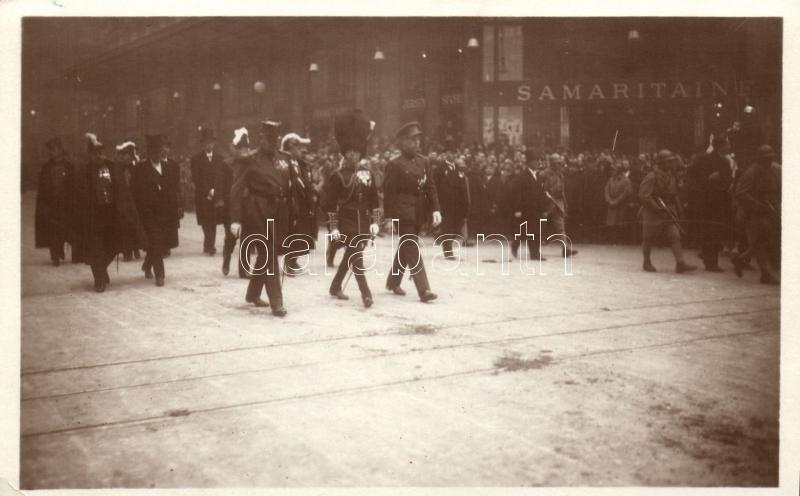 1929 Funerailles du Marechal Foch; les Princes de Galles, de Belgique et de Monaco / the funeral of Marshal Foch, 1929 Foch Marsall temetése