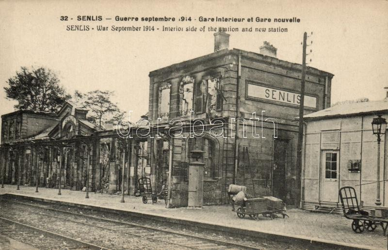 1914 Senlis, Interior side of the station and the new station