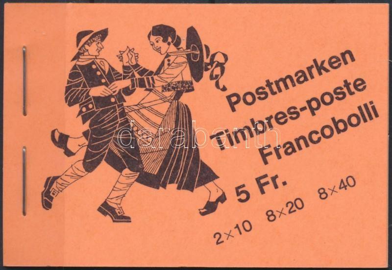 Folk Customs stampbooklet, Népszokások bélyegfüzet