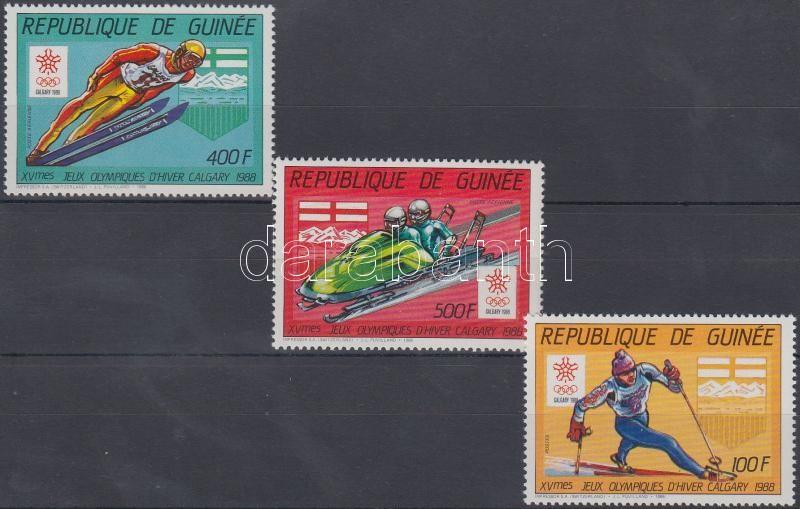 Winter Olympics 3 stamps from set, Téli olimpia sor 3 értéke