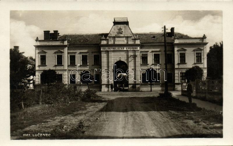 Lucenec, Delostrelecka kasarna / artillery baracks, Losonc, tüzérségi latkanya