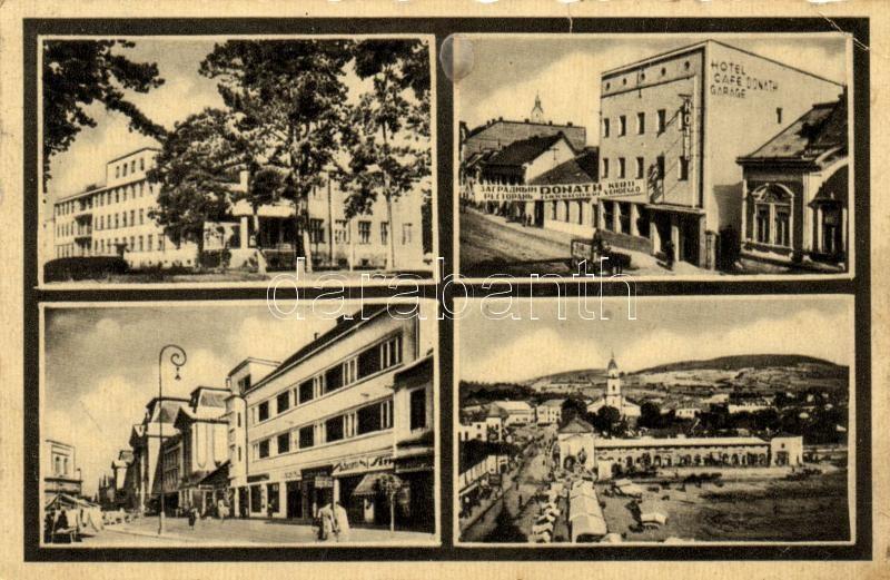 Beregszász, Berehove; hotel, café, Beregszász, Donáth szálló és kávéház
