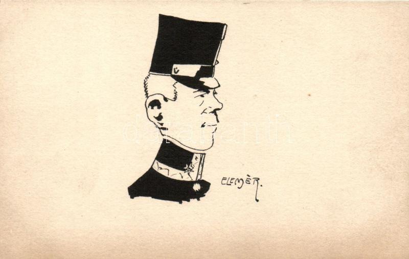 Osztrák katonatiszt s: Elemér, K.u.K. army, Austrian officer s: Elemér