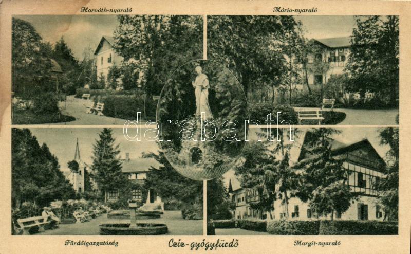 Cíz, villa, spa  (wet damage), Csíz-gyógyfürdő, Horváth, Mária és Margit nyaraló, Fürdőigazgatóság (ázott)