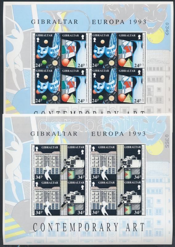 Europa CEPT: contemporary art mini sheet set, Europa CEPT: Kortárs művészet kisívsor