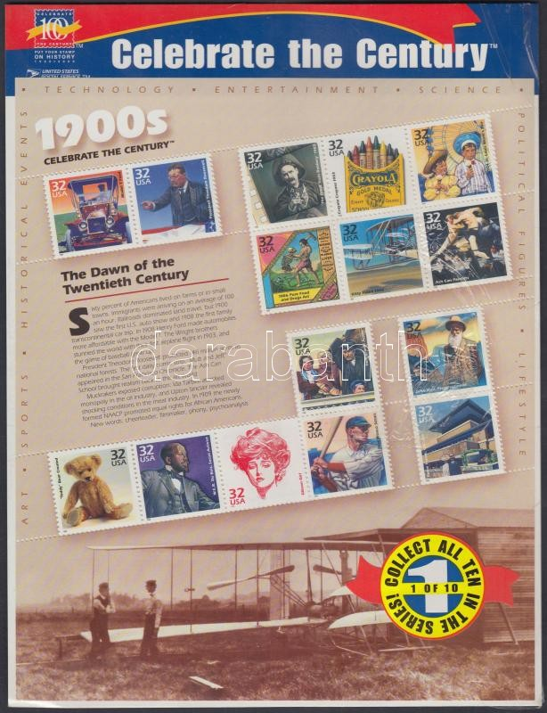 1998 20. század blokk Mi 40 sérült, eredeti csomagolásban