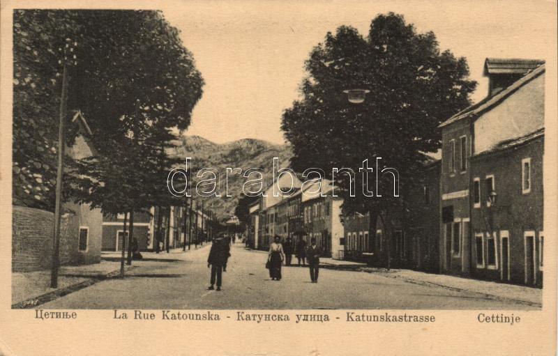 Cetinje, Katunskastrasse / street view